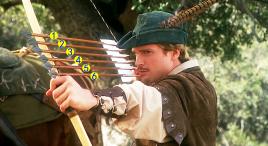 男子同时射出六支箭,却能精准命中六个目标,法国喜剧电影