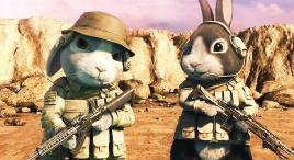 两只特种兵小兔完美配合,直接干掉几十个敌人,高分动画