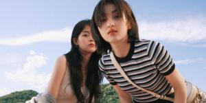 欧阳娜娜张子枫合体登封面 少女同框满满夏日气息