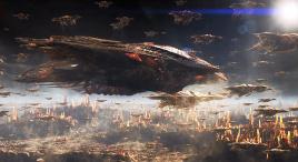 人类斥资700亿造超级炮舰,仅一炮烧光虫族母星,屠灭亿万虫子!